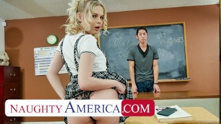 Naughty America - Coco Lovelock feels naughty and fucks her Professor in detention