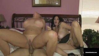 Cougar Charlee Chase Joins Her Hubby And MILF Alexis Golden!