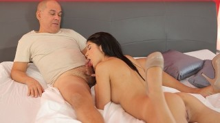 OLD4K Winsome brunette properly drilled by old partner in bedroom
