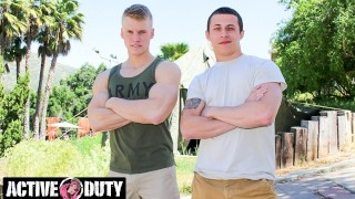 Eager Military Muscle Jocks' First Time Anal - ActiveDuty