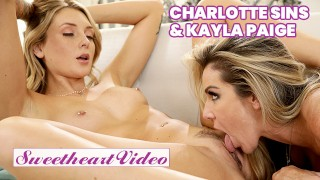 Sweetheart - Blonde lesbians Charlotte Sins & Kayla Paige 69 till they cum