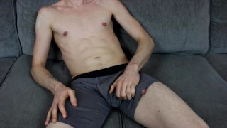 Jerking Off in my Underwear Until I Cum on my Leg (Loud Moaning)