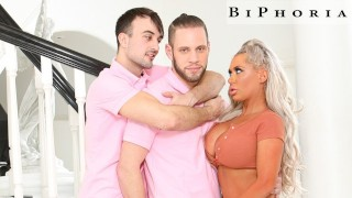 Gay Pornstar Fucks Stepbrother's Wife To Practice Straight Sex - BiPhoria