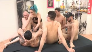Insatiable Sukii has a gangbang and 2 cocks inside her ass