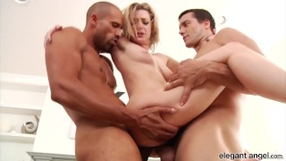 Anal Fanatic: Pretty Blonde Babe Dahlia Sky Takes on Two Hung Studs at Once