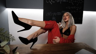 Super hot blonde teacher sucks friend's son