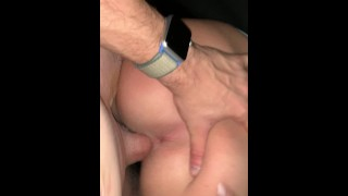 Late Night Backseat Fuck with College Slut