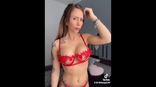 Littleangel84 - Tik Tok Porn Silhouette Challenge Porn - Version Complete & Anal Plug