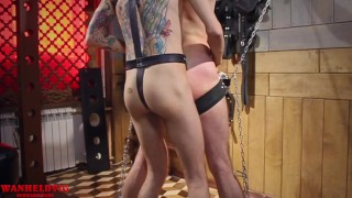 Hard Ass Fucking Bound Slave - BDSM