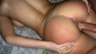 Neighbor with big tits gets deep in the ass-Anal POV