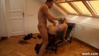 Sexy Realtor Gives Her Client Some Afternoon Fucking In The Attic