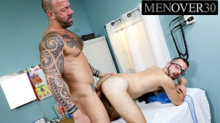 Daddy Patient Fucks Hairy Pup Doctor In The Ass - MenOver30