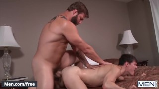 Men - Tatted Blond Daddy Colby Jansen Can't Resist Tyler Sweet's Twink Ass When He Drops His Pants