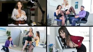 Top MILF Compilation Of Busty Office Sluts Enjoying Big Bonuses