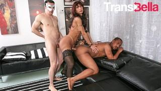 TransBella - Karla Ciccarelli Sexy Brazilian Tranny Kinky Anal Threesome With Studs