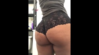 My round ass in black lace