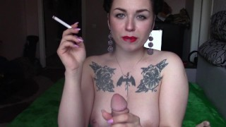 Learning to masturbate with oiled tits and I can suck