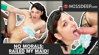 Perfect French Room Service: Maid cleans his room and dick! MISSDEEP