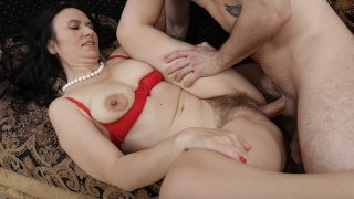 MATURE4K Man and stepmother are carnal being united in single act of sex