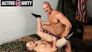 ActiveDuty - Amputee Justin Lewis Loves Big Hard Military Cock