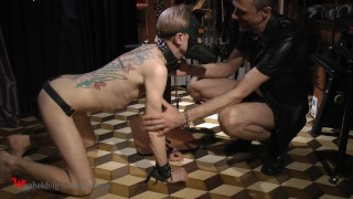 Puppy play with nasty Nicky
