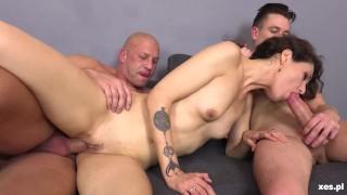 Polish Milf Banged By Two Boys