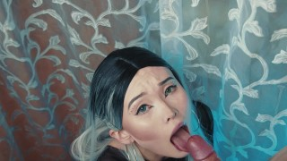 Sweet sakura take full mouth of sperm
