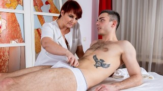 MATURE4K Mature woman from massage parlor hooks up with another customer