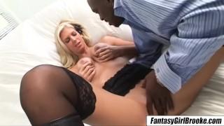 Brooke Banner BBC milf loves huge black men shaved pussy destroyed