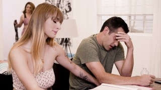 Hot Student Bangs Her Stepdad While His GF Is Here!