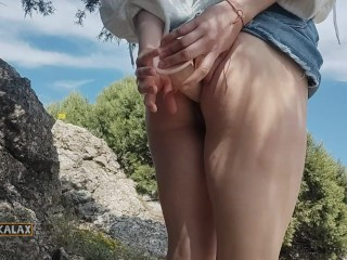 In the bushes, I prepared my ass for a hot fuck
