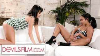 Isabella Nice Scissored Her Straight BFF With A Huge Dildo