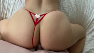 Sexy PAWG Gets Fucked in Red Lingerie, iPhone POV