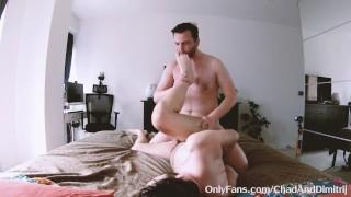 uncut big dick dom top rough fucks my slut hole and gives me a cum facial