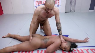 Rough Mixed Nude Wrestling Where Winner Fucks Loser As Avery Jane Fights Oliver Davis