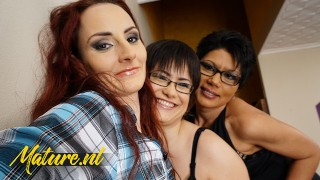 Horny Lesbians Take Turns On Eating Each Others Pussy