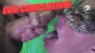 Thick Facials and Oral Creampies COMPILATION! Huge Loads on Her Face and In Her Mouth!