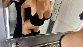 Let Stranger Fuck me in Public Elevator