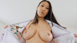 JAY'S POV - BUSTY ASIAN STEP MOM SHARON LEE GETS A MORNING CREAMPIE