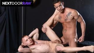 NextDoorRaw - Nic Sahara Feeds Dick To Blindfolded Cum Pig