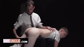 Bishop Davies Penalize Mischievous Missionary Boy With Crystal Dildo