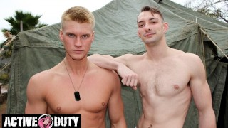 Blake Disciplines Soldier's Tight Hairy Hole - ActiveDuty