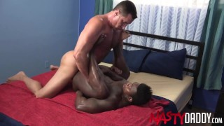 NASTYDADDY DILF Nick Capra Raw Breeds Muscular Black Hunk