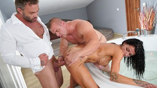 Husband helps wife fuck with another man