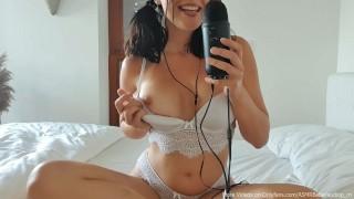ASMR Cute german girl wanna show you how well she already speaks spanish!