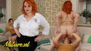 Sexy BBW MILF Katrin Porto Shows Shy Teen How To Eat Pussy!