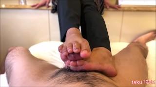 japanese bare feet job