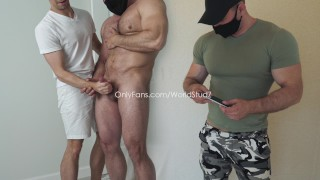 """Straight """"Muscle Beast"""": worshiped, jerked off, edged till the last drop"""
