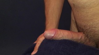 Horny Guy Fucking Fluffy Pillow While Moaning/ Hands Free Cum