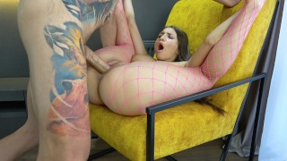 Girlfriend Cums After Deep Fucking Mouth And Wet Pussy With My Hard Huge Cock